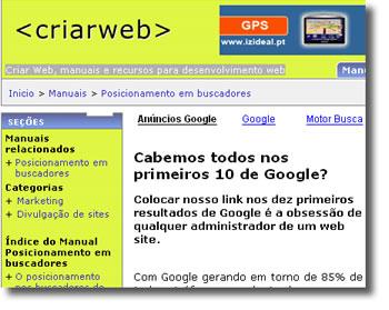 Criar web